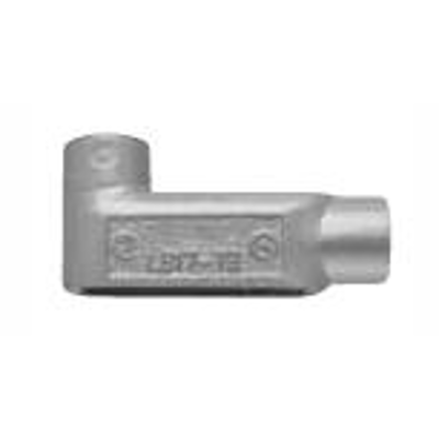 """Image for 0.5"""" to 4"""" Trade Sizes Aluminum Conduit Body Elbow with Left, Right or Rear Access, Form 7 or Mark 9, Coated in Blue, Gray or White PVC"""