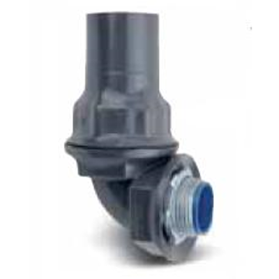 """Image for Steel Liquidtight Staight Conduit Connectors for 0.5"""" to 4"""" Trade Sizes Conduits, Coated in Blue, Gray or White PVC"""