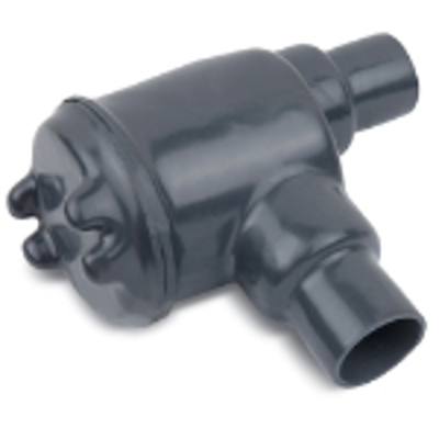 """Image for Dark Gray PVC Coated GUAB Conduit Outlet Box, 1/2"""", 3/4"""", 1"""", 1-1/2"""", 2"""", Ductile Iron, Zinc Plated"""