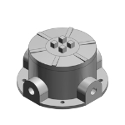 """Image for 0.5"""" to 1"""" Trade Sizes Double-Coat External Hub for Hazardous Locations, X-Style with Flange and Surface Cover, Coated in Blue, Gray or White PVC"""