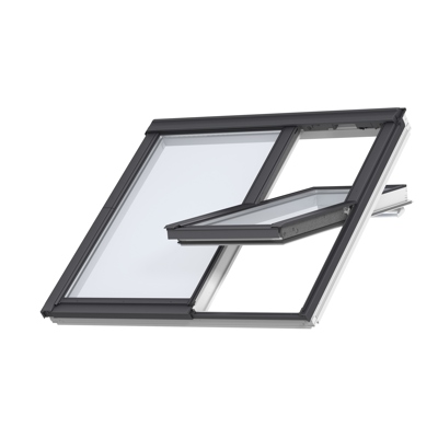 Image for 2in1 Top-operated pinewood roof window - Centre-pivot - GGLS
