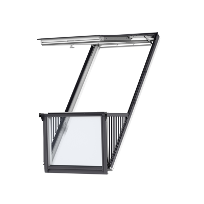 Image for CABRIO® Pinewood roof window balcony - GDL