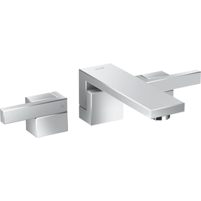 imazhi i AXOR Edge 3-hole basin mixer for concealed installation wall-mounted with spout 190 mm - diamond cut 46061000