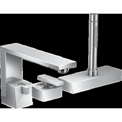 imazhi i AXOR Edge 3-hole rim mounted bath mixer - diamond cut 46431000