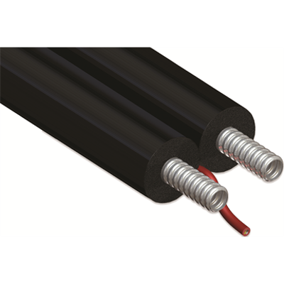 Image for Double CORRUGATED stainless steel tube DN12-25 with EPDM insulation for thermal solar installation with electric cable