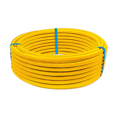 Image for CORRUGATED stainless steel TUBE DN12-50 for gas supply with LDPE yellow coating