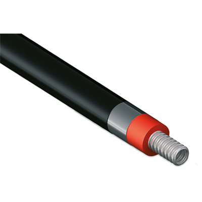 Image for Single CORRUGATED stainless steel tube DN15-20 with Polyurethane insulation for thermal solar installation without cable