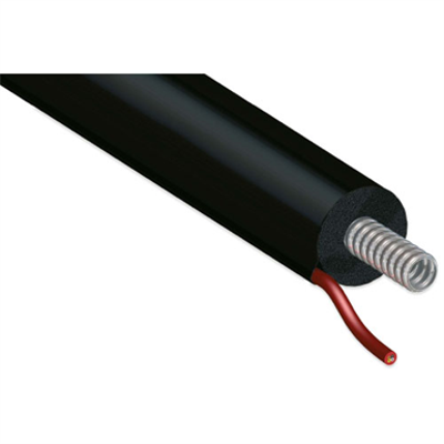 Image for Single CORRUGATED stainless steel tube DN12-25 with EPDM insulation for thermal solar installation with cable