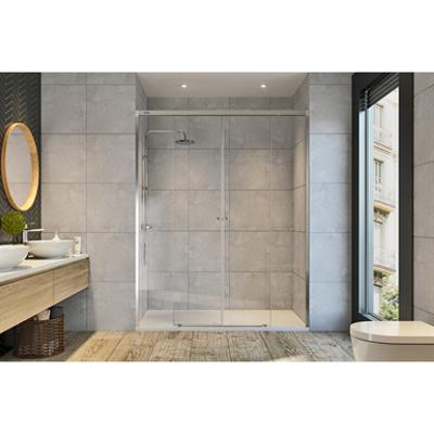 รูปภาพสำหรับ Duscho GravityONE - 2 Fixed + Slider twin doors for shower