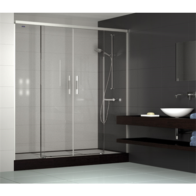 รูปภาพสำหรับ Duscho Gredel  - 2 Fixed + Slider twin doors for shower