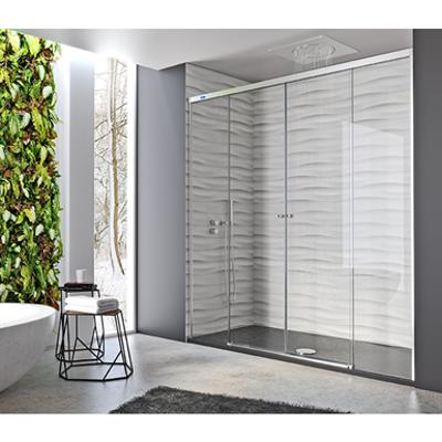 รูปภาพสำหรับ Duscho Gravity - 2 Fixed + Slider twin doors for shower