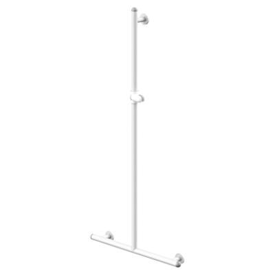 Image for Grab rail vertical with slider for shower head Ø32mm - 60 x 120cm White Techni-Safe