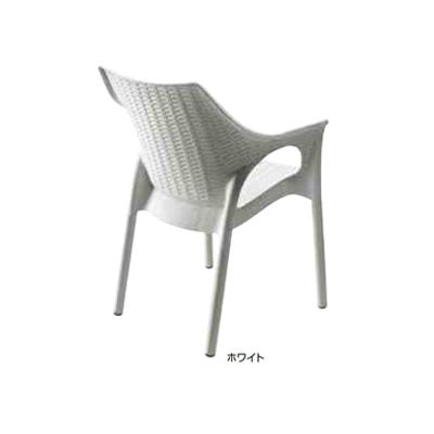 Image for ガーデンファニチャー プラスチック オリンピア アームチェアー スキャブ SCB-AC05W 33159800 ホワイト