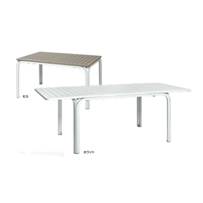 Image for ガーデンファニチャー プラスチック アロロテーブル ナルディ NAR-T04W 32872700 ホワイト
