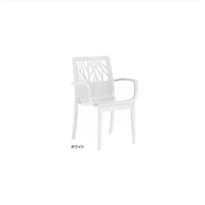 Image for ガーデンファニチャー プラスチック べジタル アームチェアー グロスフィレックス GRS-AC01W 31481200 ホワイト