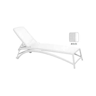 Image for ガーデンファニチャー プラスチック アトランティコ リクライニングチェアー ナルディ NAR-RC01W 33731600 ホワイト