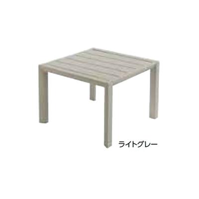 Image for ガーデンファニチャー プラスチック サンセット サイドテーブル グロスフィレックス GRS-T13LG 31377800 ライトグレー