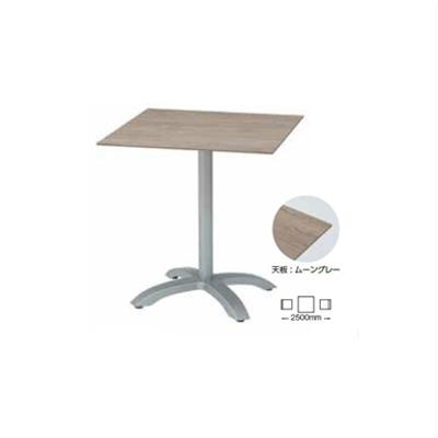 Image for ガーデンファニチャー プラスチック エコフィックス スクエアテーブル70 グロスフィレックス GRS-T08MG 32857400 ムーングレー