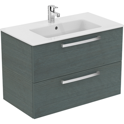 Image pour ULYSSE Meuble & lavabo-plan 81,5 x 45 cm
