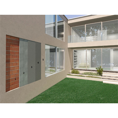 Image for Breathable render for newly built masonry for healthy and comfortable surroundings (external with lime and cement-based products)