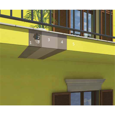 Image for Durable elastomeric protection and repair system for the front edges of balconies