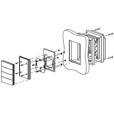 Image for Flush solid board mount for Berker B.IQ 4G Stainless Steel