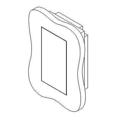 Image for Flush solid board mount for Berker TS-Sensor
