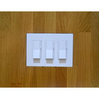 Image for Flush Solid Board mount for Lutron Designer Style 3Gang