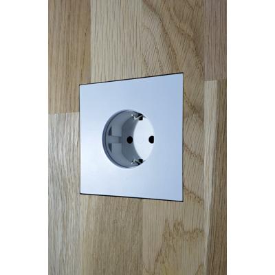 Image for Flush solid board wall mount for Basalte satin white Socket