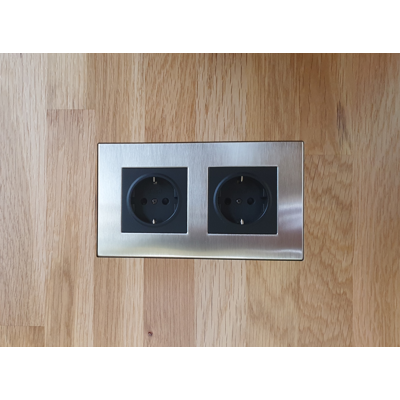 Image for Flush solid board mount for Lutron Palladiom Square 2Gang socket
