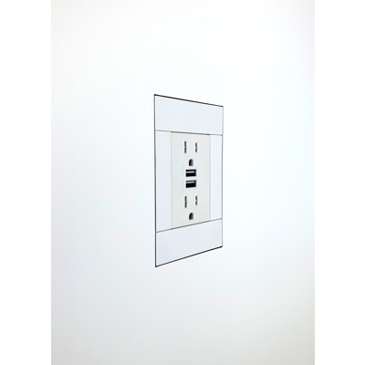 Image for Flush wall mount for Crestron Horizon HZA‑PWR