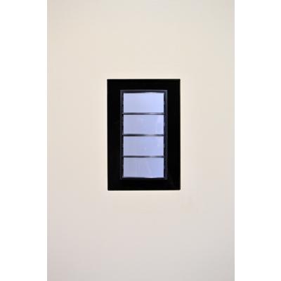 Image for Flush wall mount for Berker B.7 push button, 4gang
