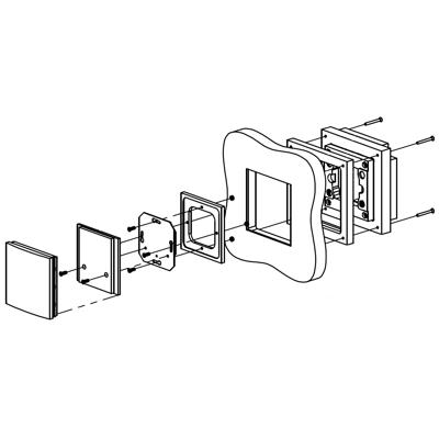 Image for Flush solid board mount for Berker B.IQ 1G Stainless Steel