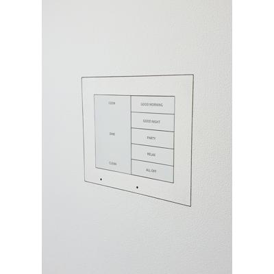 Image for Flush wall mount for two Crestron HZ-KPCN keypads, Paintable