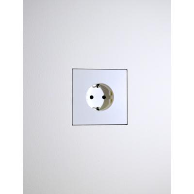 Image for Flush wall mount for Basalte satin white Socket