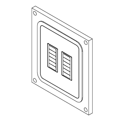 Image for Flush wall mount for Crestron C2N-CBD-P Two Gang
