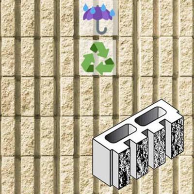 รูปภาพสำหรับ Architectural wall in concrete masonry unit CT16