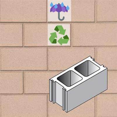 รูปภาพสำหรับ Architectural wall in concrete masonry unit ARCHETIPI 20