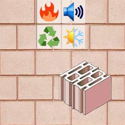 รูปภาพสำหรับ Loadbearing wall in concrete masonry unit BIODÄMM MV25p