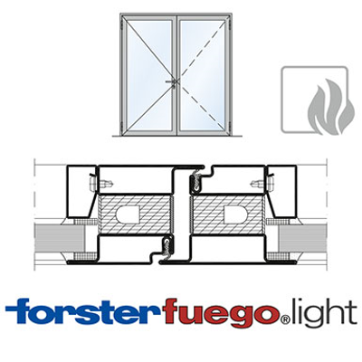 Image for Door Forster fuego light EI30, double leaf