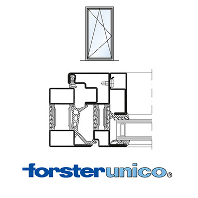 Image for Window Forster unico, frame 30 mm, single leaf