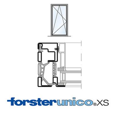 Image for Window Forster unico XS, frame 8 mm, single leaf