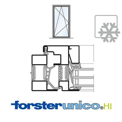 Image for Window Forster unico HI, frame 30 mm, single leaf