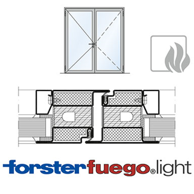 Image for Door Forster fuego light EI60, double leaf