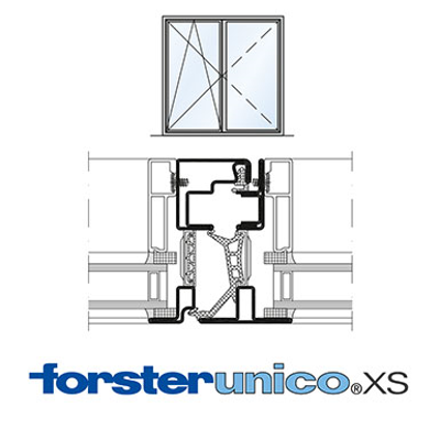 Image for Window Forster unico XS, frame 8 mm, double leaf