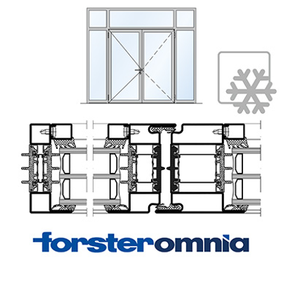 Image for Curtain Wall Door Forster omnia double leaf