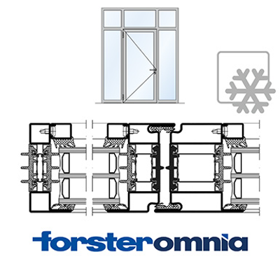 Image for Curtain Wall Door Forster omnia single leaf