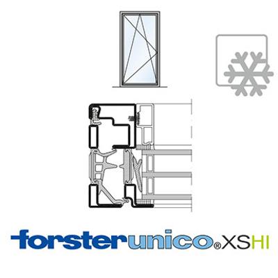 Image for Window Forster unico XS HI, frame 8 mm, single leaf
