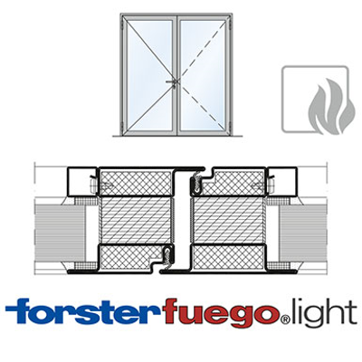 Image for Door Forster fuego light EI90, double leaf