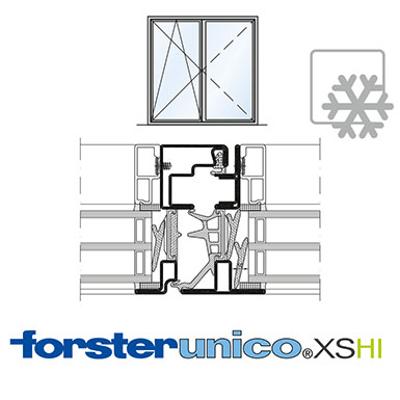 Image for Window Forster unico XS HI, frame 8 mm, double leaf
